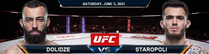 UFC Fight Night 189 Dolidze vs Staropoli 06-05-2021 Predictions Previews and Spread