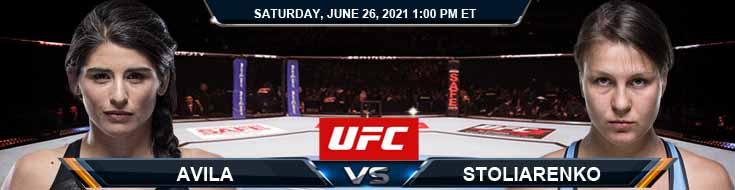 UFC Fight Night 190 Avila vs Stoliarenko 06-26-2021 Previews Spread and Fight Analysis