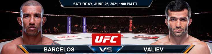 UFC Fight Night 190 Barcelos vs Valiev 06-26-2021 Analysis Odds and Picks