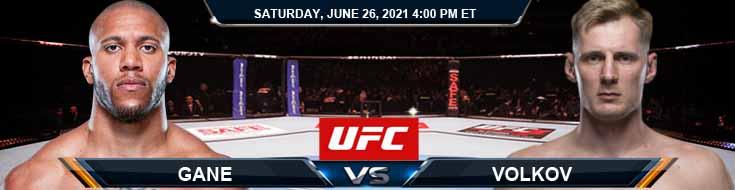UFC Fight Night 190 Gane vs Volkov 06-26-2021 Picks Predictions and Previews