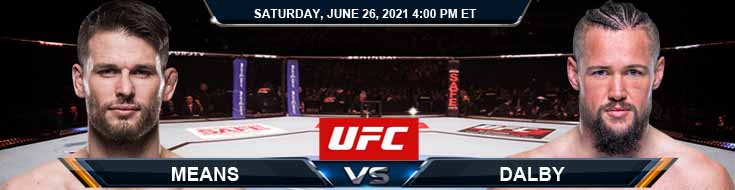 UFC Fight Night 190 Means vs Dalby 06-26-2021 Spread Fight Analysis and Forecast