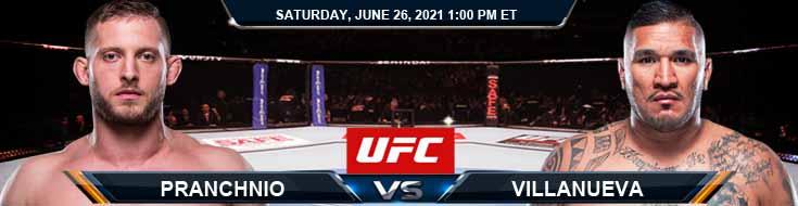 UFC Fight Night 190 Prachnio vs Villanueva 06-26-2021 Picks Predictions and Previews