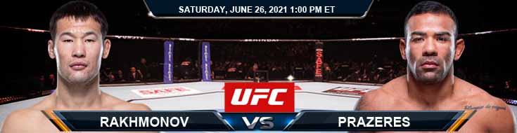 UFC Fight Night 190 Rakhmonov vs Prazeres 06-26-2021 Tips Results and Analysis