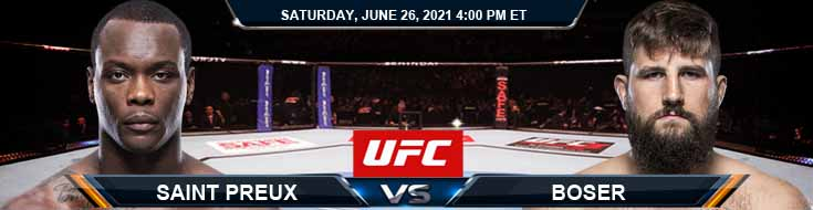 UFC Fight Night 190 St. Preux vs Boser 06-26-2021 Predictions Previews and Spread