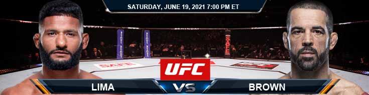 UFC on ESPN 25 Lima vs Brown 06-19-2021 Analysis Odds and Picks