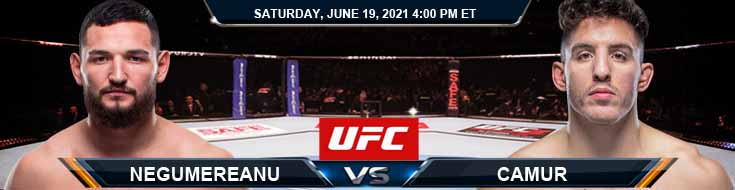 UFC on ESPN 25 Negumereanu vs Camur 06-19-2021 Results Analysis and Odds