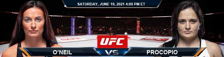UFC on ESPN 25 O'Neill vs Procopio 06-19-2021 Fight Analysis Forecast and Tips