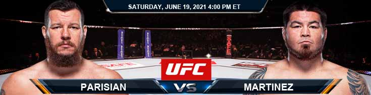 UFC on ESPN 25: Parisian vs Martinez 06/19/2021 Odds, Picks and Predictions