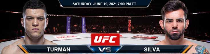 UFC on ESPN 25 Turman vs Silva 06-19-2021 Predictions Previews and Spread