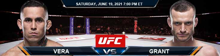 UFC on ESPN 25 Vera vs Grant 06-19-2021 Odds Picks and Predictions