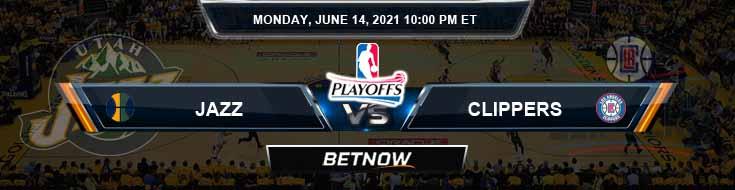Utah Jazz vs Los Angeles Clippers 6-14-2021 Spread Picks and Previews