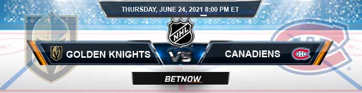 Vegas Golden Knights vs Montreal Canadiens 06-24-2021 Betting Forecast Odds and NHL Spread