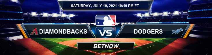 Arizona Diamondbacks vs Los Angeles Dodgers 07-10-2021 Analysis Odds and Picks