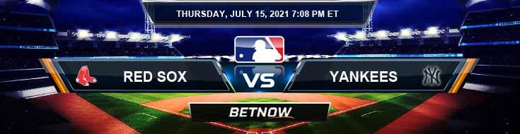 Boston Red Sox vs New York Yankees 07-15-2021 Picks Predictions and Previews