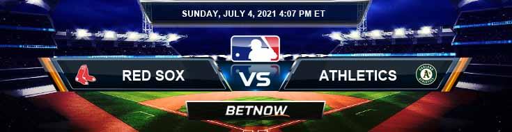 Boston Red Sox vs Oakland Athletics 07-04-2021 MLB Baseball Tips and Forecast