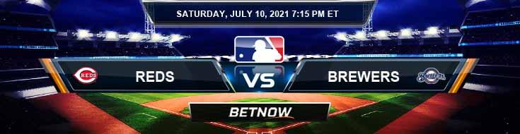 Cincinnati Reds vs Milwaukee Brewers 07-10-2021 Baseball Betting Analysis and Odds