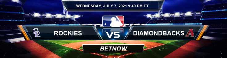 Colorado Rockies vs Arizona Diamondbacks 07-07-2021 Odds Picks and Predictions