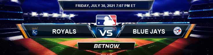 Kansas City Royals vs Toronto Blue Jays 07-30-2021 Predictions MLB Preview and Spread