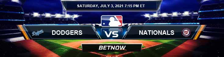 Los Angeles Dodgers vs Washington Nationals 07-03-2021 MLB Baseball Tips and Forecast
