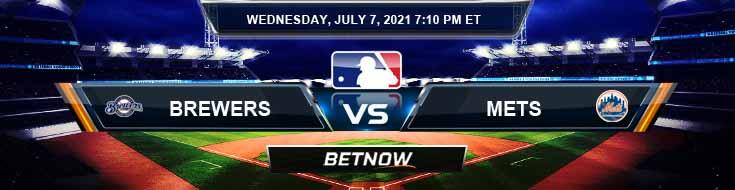 Milwaukee Brewers vs New York Mets 07-07-2021 Forecast Baseball Betting and Analysis