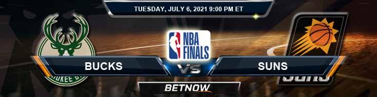 Milwaukee Bucks vs Phoenix Suns 7-6-2021 NBA Picks and Previews