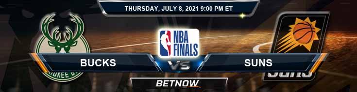 Milwaukee Bucks vs Phoenix Suns 7-8-2021 Spread Picks and Previews