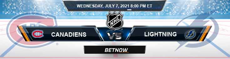 Montreal Canadiens vs Tampa Bay Lightning 07-07-2021 NHL Betting Tips Odds and Predictions