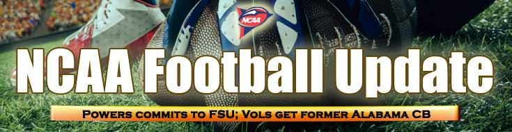 NCAA Football Update Jerrale Powers Commits to FSU Vols get Former Alabama CB