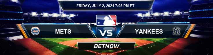 New York Mets vs New York Yankees 07-02-2021 Picks Predictions and Previews
