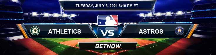 Oakland Athletics vs Houston Astros 07-06-2021 Spread Game Analysis and MLB Baseball