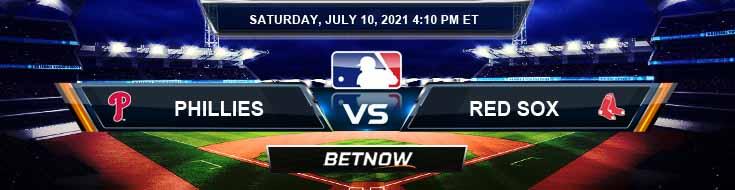 Philadelphia Phillies vs Boston Red Sox 07-10-2021 Predictions Spread and Game Analysis