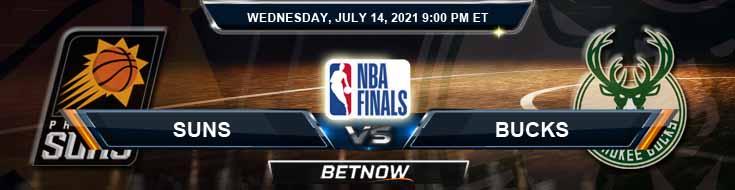 Phoenix Suns vs Milwaukee Bucks 7-14-2021 Odds Picks and Prediction