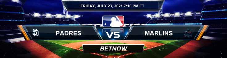 San Diego Padres vs Miami Marlins 07-23-2021 Baseball Tips Forecast and Analysis