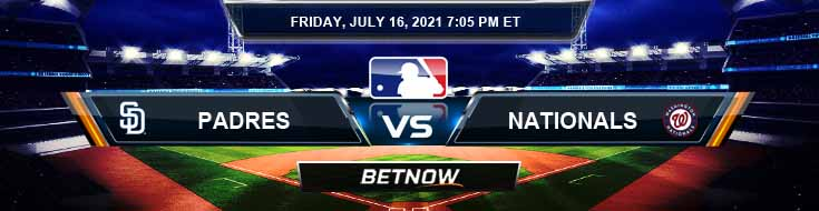 San Diego Padres vs Washington Nationals 07-16-2021 Spread Game Analysis and Tips