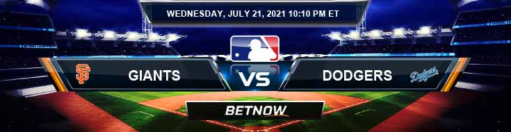 San Francisco Giants vs Los Angeles Dodgers 07-21-2021 MLB Preview Spread and Game Analysis