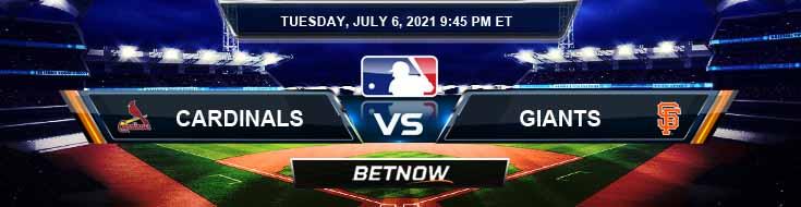St. Louis Cardinals vs San Francisco Giants 07-06-2021 Baseball Betting Analysis and Odds