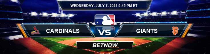 St. Louis Cardinals vs San Francisco Giants 07-07-2021 Picks Predictions and Previews