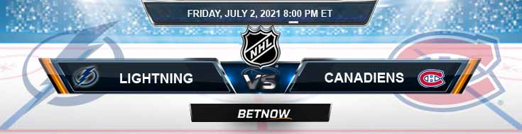 Tampa Bay Lightning vs Montreal Canadiens 07-02-2021 Betting Predictions NHL Previews and Spread