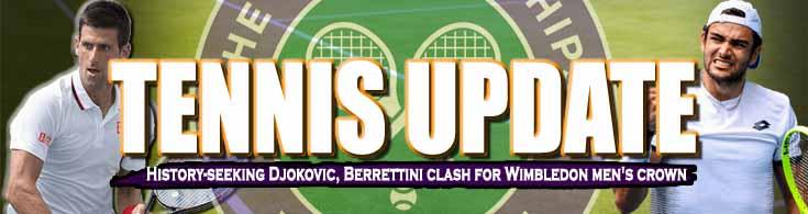 Tennis Update History-seeking Djokovic Berrettini Clash for Wimbledon Men's Crown