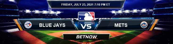 Toronto Blue Jays vs New York Mets 07-23-2021 Forecast Analysis and Odds