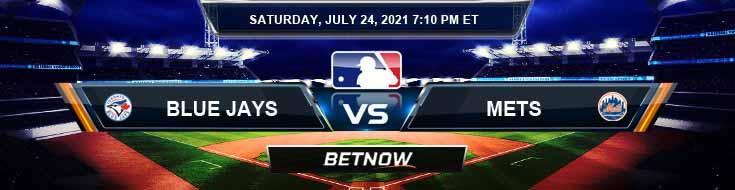 Toronto Blue Jays vs New York Mets 07-24-2021 Odds Betting Picks and Predictions
