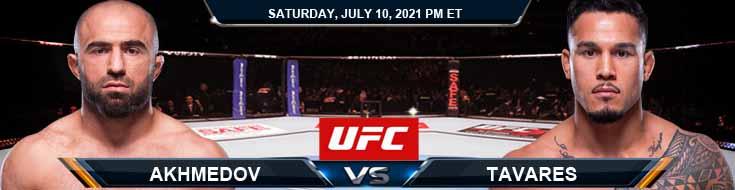 UFC 264 Akhmedov vs Tavares 07-10-2021 Picks Predictions and Previews