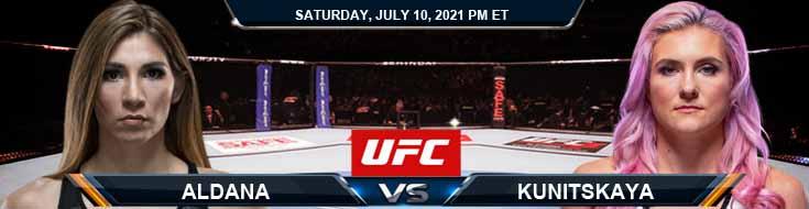 UFC 264 Aldana vs Kunitskaya 07-10-2021 Previews Spread and Fight Analysis