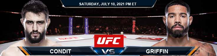 UFC 264 Condit vs Griffin 07-10-2021 Fight Analysis Forecast and Tips