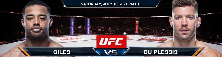 UFC 264 Giles vs Du Plessis 07-10-2021 Analysis Odds and Picks
