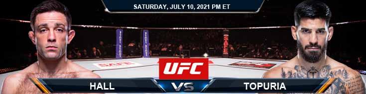 UFC 264 Hall vs Topuria 07-10-2021 Tips Analysis and Odds