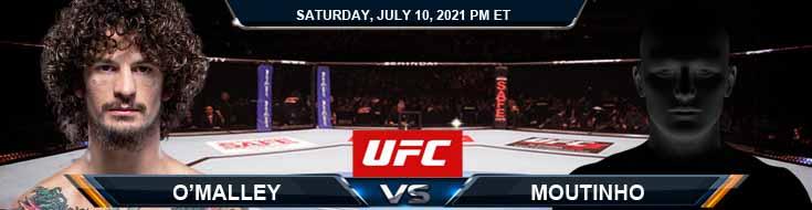 UFC 264 O'Malley vs Moutinho 07-10-2021 Spread Fight Analysis and Forecast