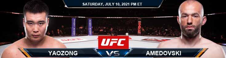 UFC 264 Yaozong vs Amedovski 07-10-2021 Previews Spread and Fight Analysis
