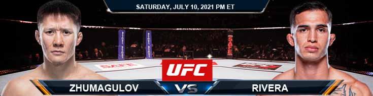UFC 264 Zhumagulov vs Rivera 07-10-2021 Predictions Previews and Spread