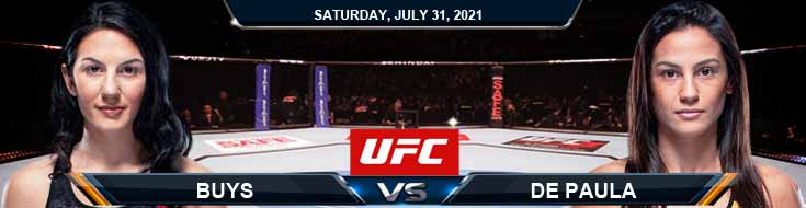 UFC ON ESPN 28 Buys vs de Paula 07-31-2021 Predictions Previews and Spread